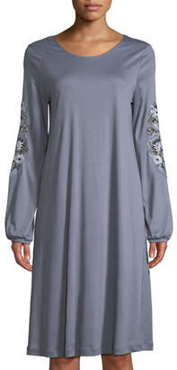 Hanro Jana Floral-Embroidery Short Nightgown
