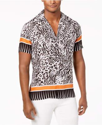 INC International Concepts I.n.c. Men's Multi-Print Camp Collar Shirt, Created for Macy's