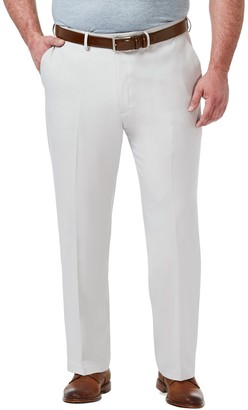 Haggar Big & Tall Premium Comfort Expandable-Waist Classic-Fit Stretch Flat-Front Dress Pants