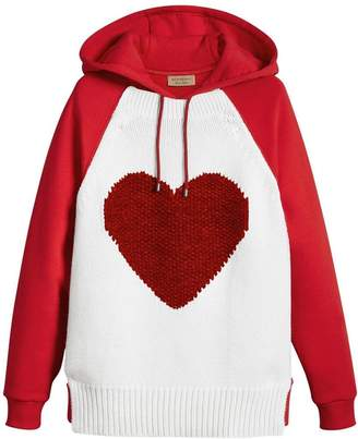 Burberry Heart Intarsia Cotton blend Hoodie