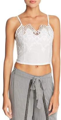 Peixoto Anassa Embroidered Cropped Top Swim Cover-Up