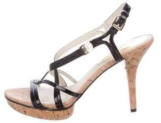 MICHAEL Michael Kors Patent Leather Cage Sandals