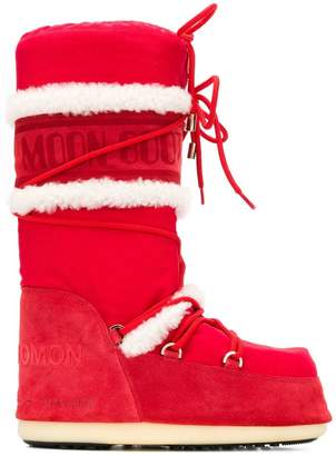 Yves Salomon lace-up moon boots