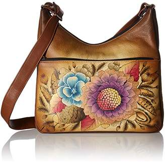 Anuschka Anna Hand Painted Leather Women'S Crossbody Hobo