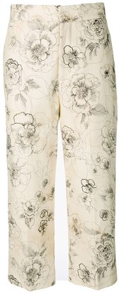 Cavallini Erika floral print cropped trousers