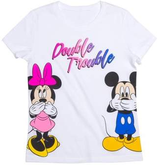 Minnie Mouse Minnie & Mickey Double Trouble Graphic T-Shirt (Little Girls & Big Girls)