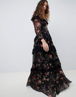 237  474 Needle   Threadhigh neck maxi gown in multi print 59e6e3234