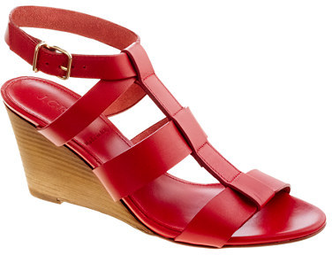 Olympia leather wedges