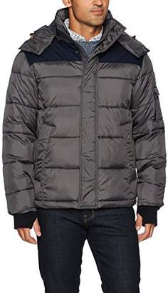 Izod Men's Insulated Puffer Jacket Removable Hood