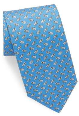 Salvatore Ferragamo Silk Elephant Ice Cream Tie