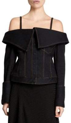 Marques Almeida Marques'Almeida Off-The-Shoulder Jacket
