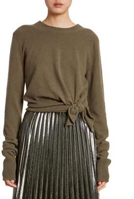 Altuzarra Cashmere Knotted Crewneck Sweater