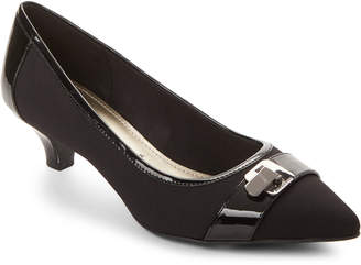 Anne Klein Black Misaki Kitten Heel Pumps