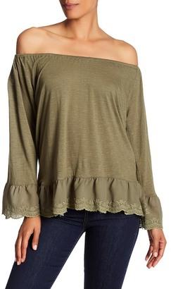 Sanctuary Juliette Off-the-Shoulder Long Sleeve Shirt $69 thestylecure.com