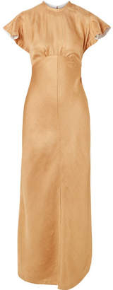 Zimmermann Twill Midi Dress - Gold