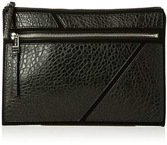 Nine West Womens Underwraps Zip Pouch Lg Wristlet Black/Black