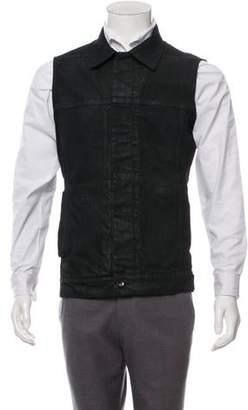 Rick Owens Denim Button-Up Vest w/ Tags