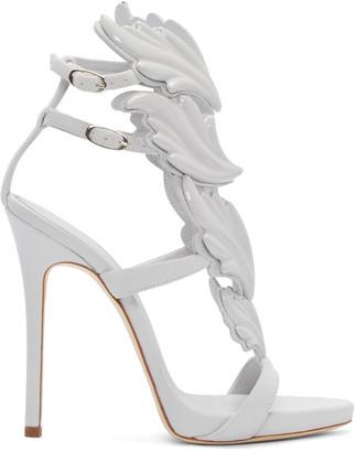 Giuseppe Zanotti Grey Suede Cruel Sandals $1,595 thestylecure.com