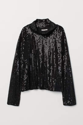 H&M Sequined Top - Black
