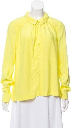 BA&SH Point-Collar Long Sleeve Blouse