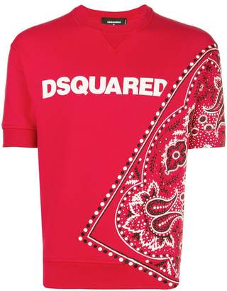 DSQUARED2 bandanna print short-sleeve sweatshirt