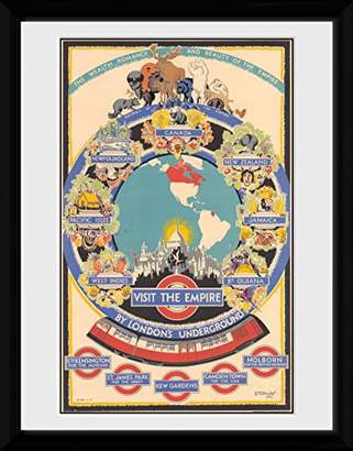 Camilla And Marc GB eye Transport for London Visit the Empire 2 Framed Print, Wood, Various, 52 x 44 x 3 cm