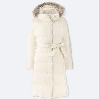Uniqlo Women's Lightweight Down Hooded Coat