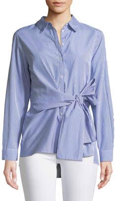 Velvet Heart Barret Tie-Waist Button-Front Tunic