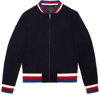 Jersey bomber jacket $1,590 thestylecure.com