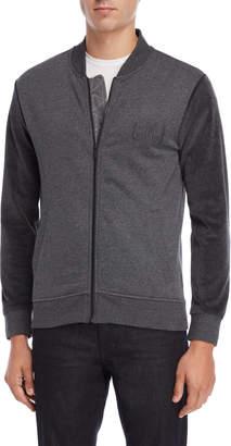 Calvin Klein Dark Grey Fleece Bomber Jacket