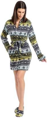 Body Candy Junior's Ladies Luxe Plush Sleepwear Robe & Slipper Sets