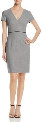 BOSS Doritala Piped Geo-Print Sheath Dress