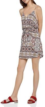 BCBGeneration Tropical Tie-Front Dress