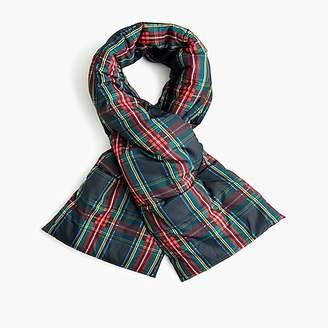 J.Crew Puffer scarf in Stewart black tartan