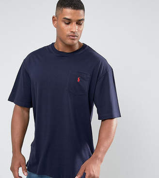 Polo Ralph Lauren Big & Tall T-Shirt Polo Player In Navy