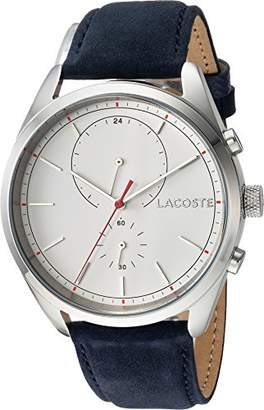 Lacoste Men's 'SAN Diego' Quartz Stainless Steel and Leather Casual Watch