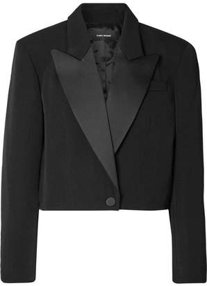 Isabel Marant Lewin Satin-trimmed Wool Blazer - Black