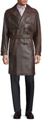 Valentino Men's Classic Leather Trench Coat