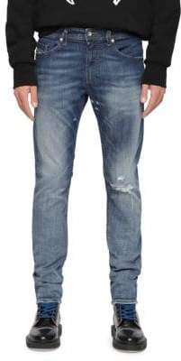 Diesel Thommer Distressed Skinny-Fit Jeans