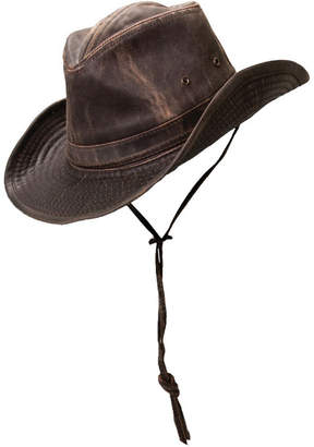 e5851ca10d3 Dorfman Pacific Men s Weathered Shapeable Outback Hat