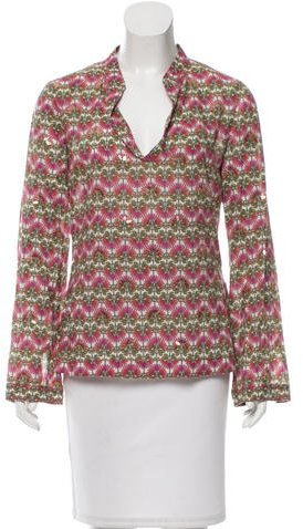 Tory Burch Tory Burch Long Sleeve Embellished Top