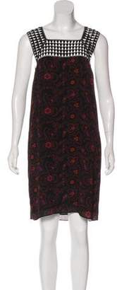 A.L.C. Embroidered Floral Print Dress