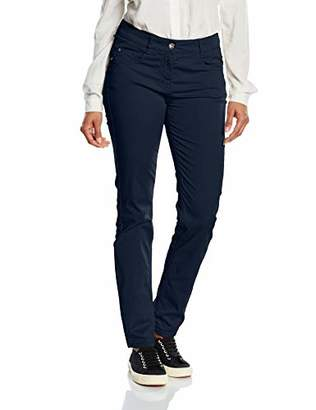 Atelier GARDEUR Women's ZURI Slim Trousers, Blue