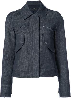 Derek Lam Cropped Jacket With Zipper Detail