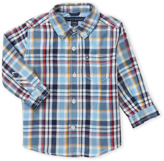 Tommy Hilfiger Infant Boys) Plaid Button-Down Shirt