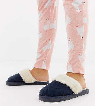 Asos Design DESIGN Wide Fit New Moon slippers