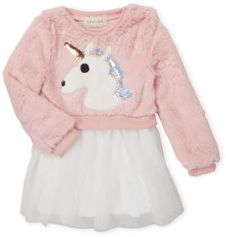 Btween (Toddler Girls) Unicorn Pullover Tulle Dress