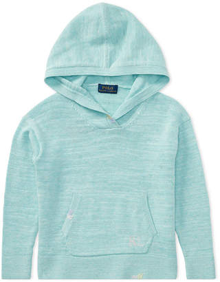 Polo Ralph Lauren Cotton Pullover Hoodie, Big Girls