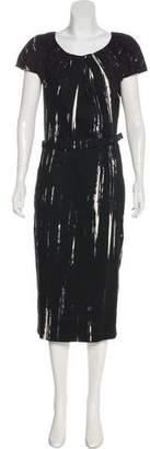 Samantha Sung Belted Midi Dress