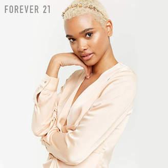Forever 21 (フォーエバー 21) - Forever 21 フラワーラインストーンメタルカチューシャ